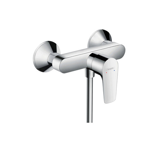 hansgrohe Talis E Single lever shower mixer for exposed installation with centre distance 153 mm by Hansgrohe | Shower taps / mixers