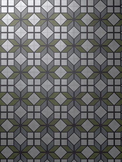 Flip Green by Bisazza | Concrete tiles