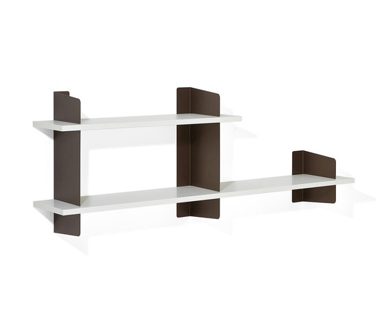 Atelier shelving | 1600 + 1000 mm by Lampert | Office shelving systems
