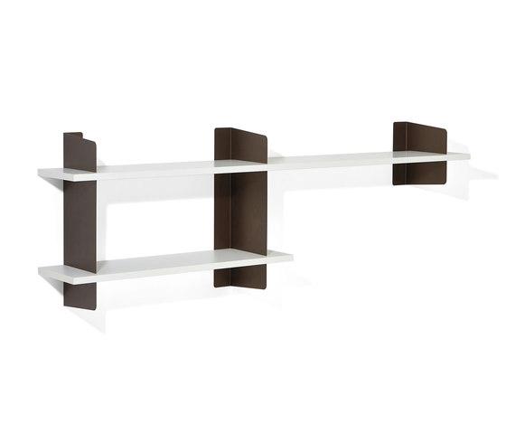 Atelier shelving | 2000 + 1000 mm by Richard Lampert | Office shelving systems