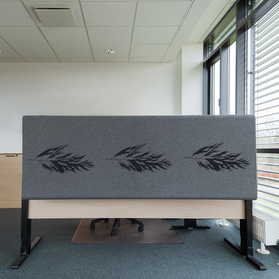 Kurage Table Screen System 50 | Rounded | Rush Power by Kurage | Table dividers