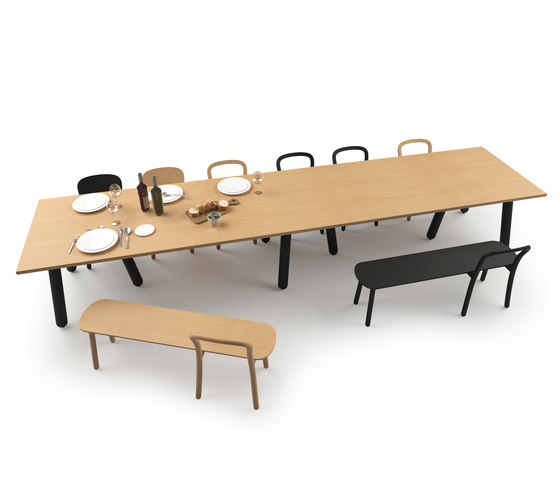 Beech Connect 71 rectangle by DUM | Contract tables