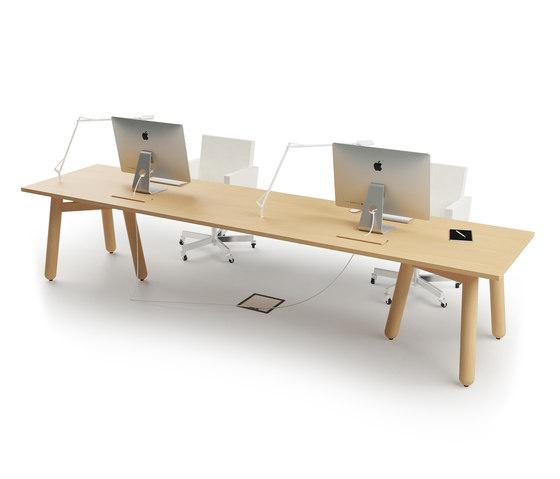 Beech Connect 71 rectangle by DUM | Desks