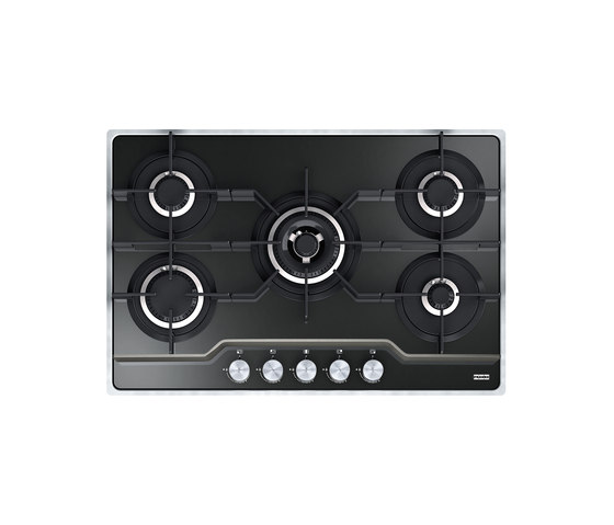 Frames by Franke Gas Hob Stainless Steel Glass Black by Franke Kitchen Systems | Hobs