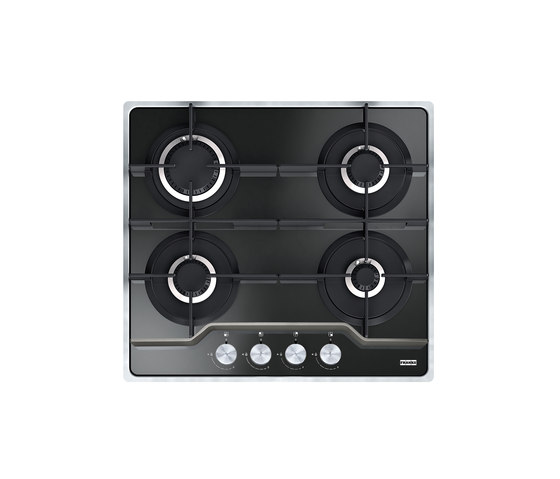 Frames by Franke Hob FHFS 584 4G BK C Stainless Steel Glass Black by Franke Kitchen Systems | Hobs