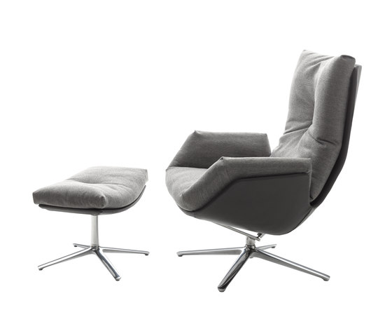 Cordia Lounge easy chair with a stool de COR | Sillones