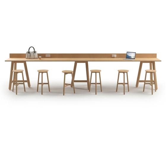 Beech Connect 100 rectangle de DUM   Tables hautes