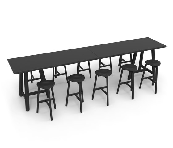 Beech Connect 100 rectangle by DUM | Standing tables