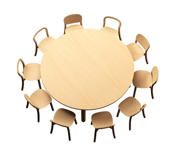 Beech Connect 71 round by DUM | Contract tables