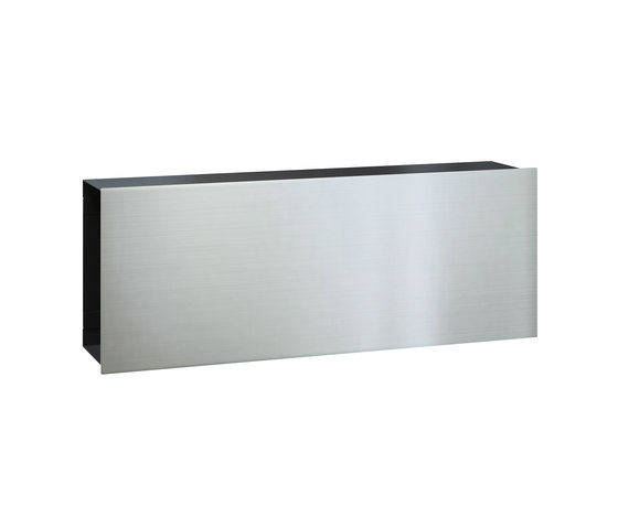 Newspaper slot | Flat Wide | stainless steel by Serafini | Mailboxes
