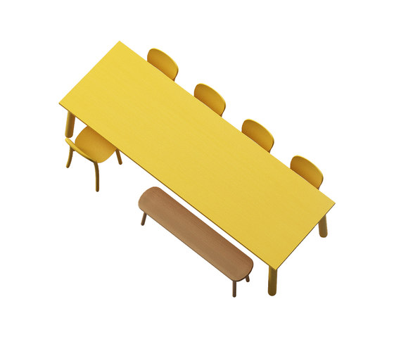 Beech Basic rectangle von DUM | Kantinentische