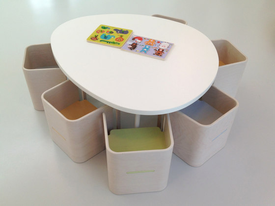 Tavolo stone shape top by PLAY+ | Kids tables
