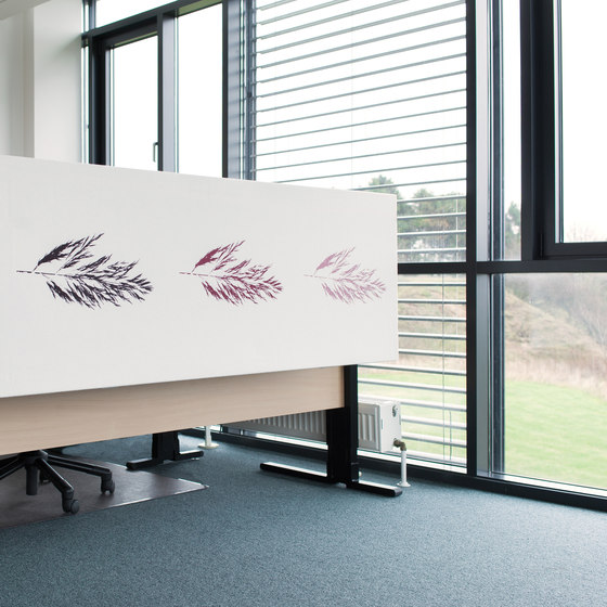 Kurage Table Screen System 50 | Square | Rush Power by Kurage | Table dividers