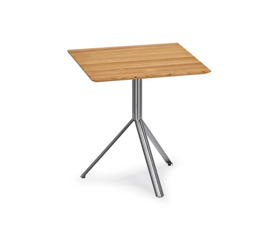 Trio Bistro Table, Tabletop Teak by Weishäupl | Cafeteria tables