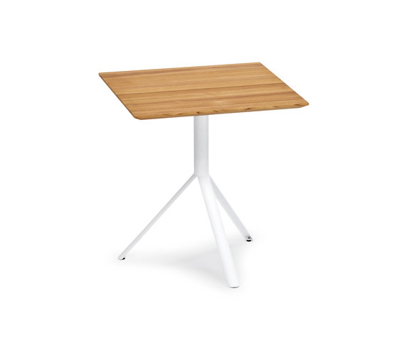 Trio Bistro Table, Tabletop Teak by Weishäupl | Dining tables