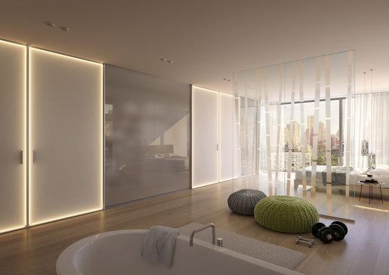 S 1200 LED sliding door system di raumplus | Pareti divisorie