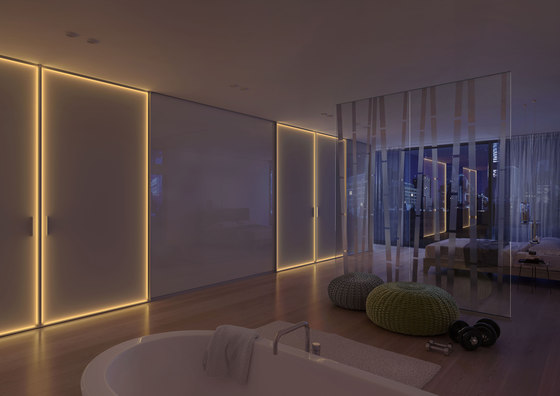 S 1200 LED sliding door system by raumplus | Partitions
