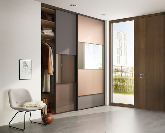 S 1200 sliding door system by raumplus | Space dividing storage