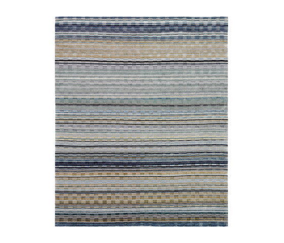 Stripes - Grauland Checker by REUBER HENNING | Rugs