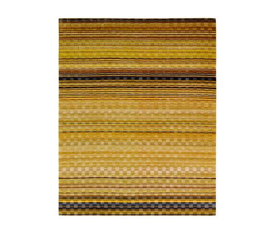 Stripes - Goldland Checker von REUBER HENNING | Formatteppiche