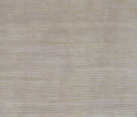 Shibori - Stripes silver von REUBER HENNING   Formatteppiche