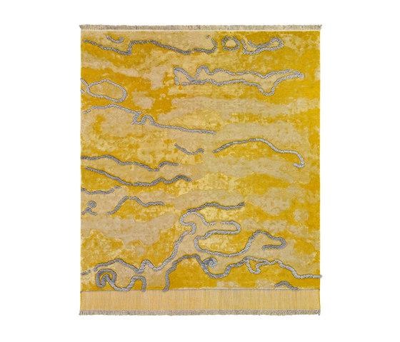 Shibori - Wave sun von REUBER HENNING   Formatteppiche