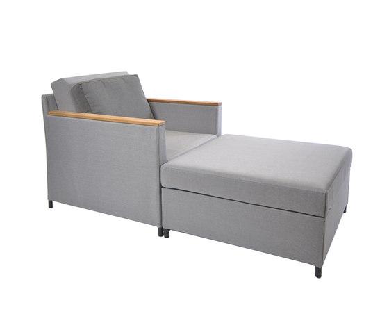 Rio lounge armchair di Fischer Möbel | Poltrone da giardino