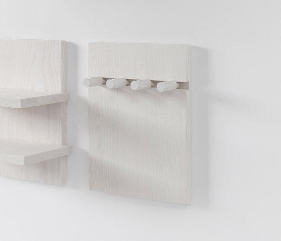 Wall Shelf pegs by Stattmann   Hook rails