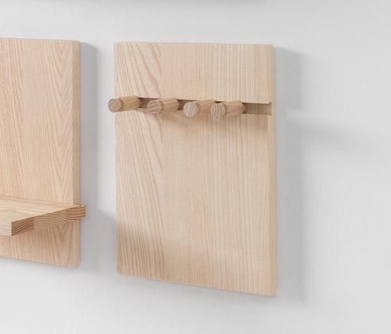 Wall Shelf pegs by STATTMANN NEUE MOEBEL | Hook rails