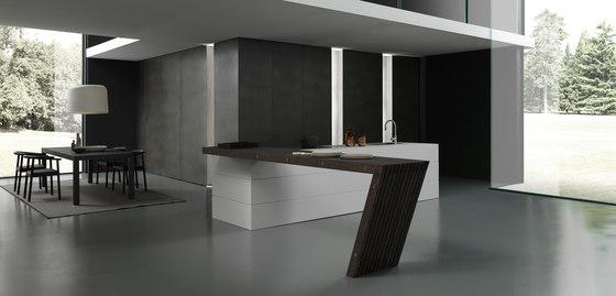 Blade 3 white Fenix island de Modulnova | Cocinas integrales