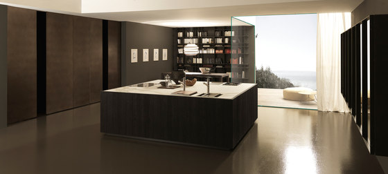 Float 1 square island in Rovere Fumo by Modulnova | Fitted kitchens