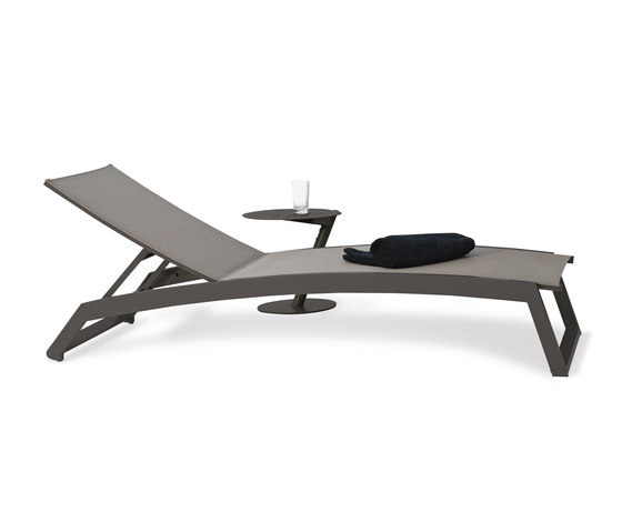 Long Beach Sun lounger aluminium adjustable by Rausch Classics | Sun loungers