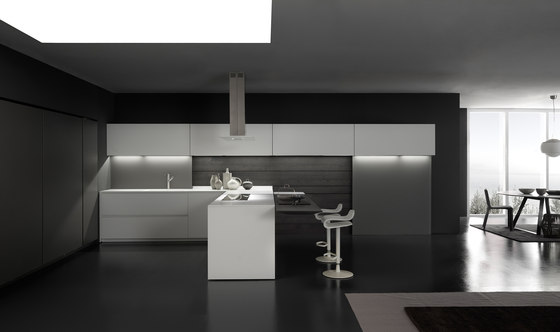 Light 1 white corner arrangement de Modulnova | Cocinas integrales