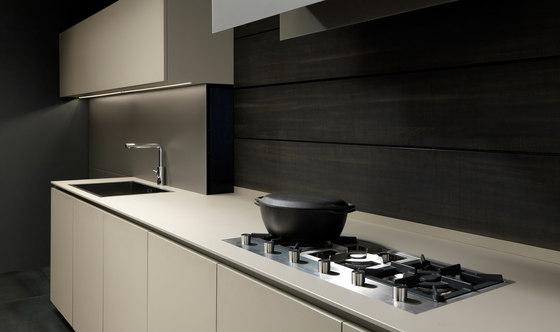 Mh6 1 linear kitchen in Beige melamine von Modulnova | Einbauküchen