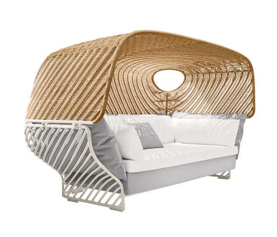 Tigmi Divano con seduta profonda con tettuccio di DEDON | Mobili baldacchino