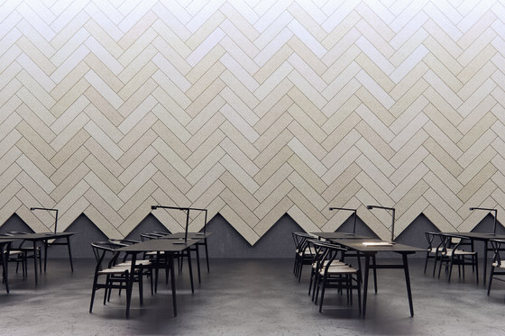 BAUX Acoustic Tiles Plank - Workplace de BAUX | Paneles de pared