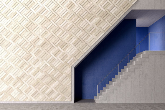 BAUX Acoustic Tiles Plank - Stairway by BAUX | Wood panels