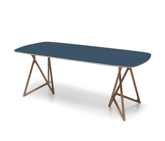 Fawn - koza table linoleum di Gazzda | Tavoli da pranzo