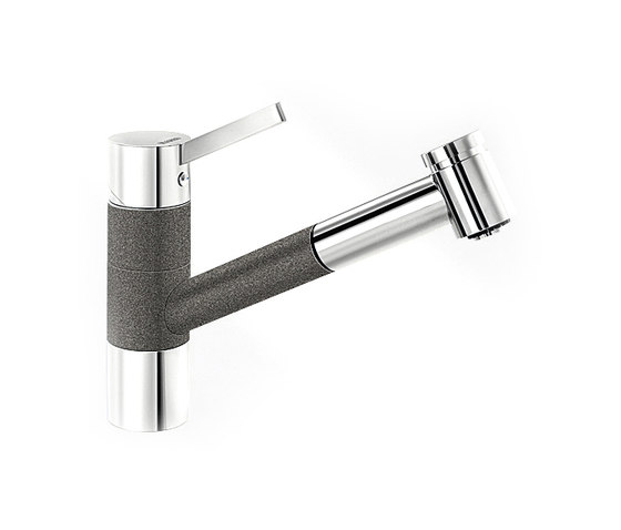 BLANCO TIVO-S | SILGRANIT Anthracite Chrome by Blanco | Kitchen taps