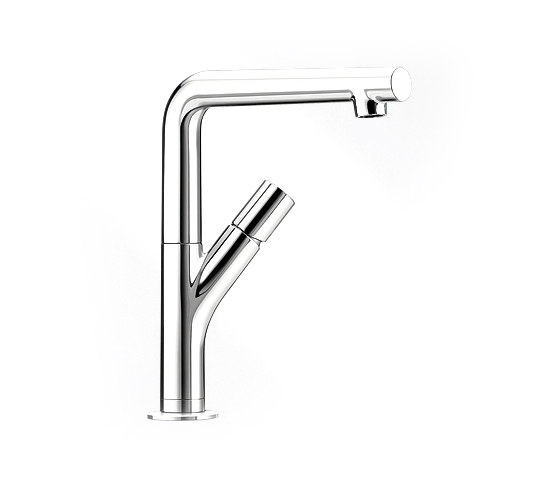 Blanco yovis chrome grifer as de cocina de blanco for Griferia cocina blanco