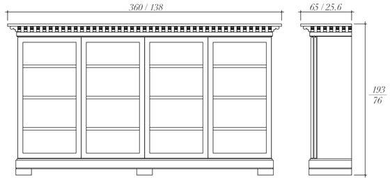 Milenio sideboard von BALTUS | Vitrinen