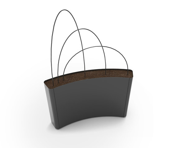 Radius Planter Divider by Green Furniture Concept | Privacy screen