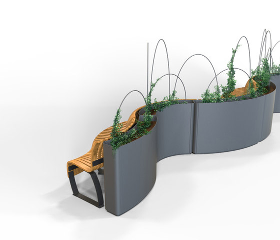 Radius Planter Divider by Green Furniture Concept | Space dividing systems