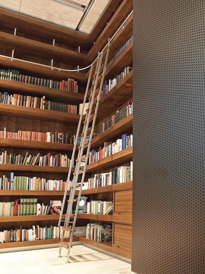 Akzent Ladder System/ Vario-Telescopic Ladder by MWE Edelstahlmanufaktur | Library ladders