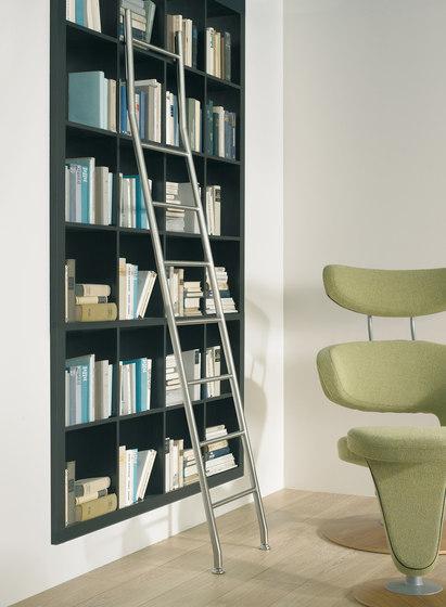 Klassik Ladder System/ Positionable Ladder by MWE Edelstahlmanufaktur | Library ladders