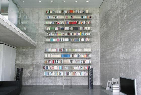 Klassik Ladder System/ Tangens Ladder by MWE Edelstahlmanufaktur | Library ladders