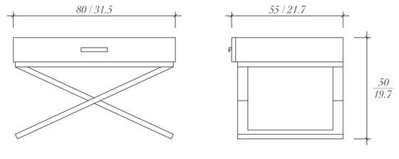 Camera bed side table di BALTUS | Tavolini alti