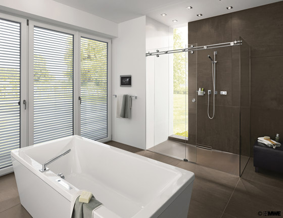 Miami Shower System by MWE Edelstahlmanufaktur | Sliding door fittings