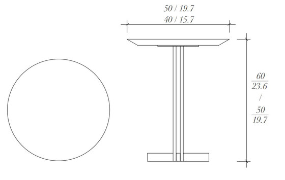 Iris mesa auxiliar de BALTUS | Mesas auxiliares