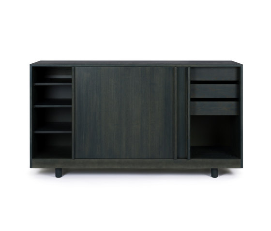 Sideboard with Sliding Doors Forest Green di Bautier | Credenze